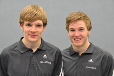 Neue C-Trainer Nils Olma und Jonas Dietrich