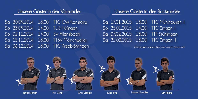 Spielankündigungsflyer TTC Beuren Saison 2014 2015 Seite 3