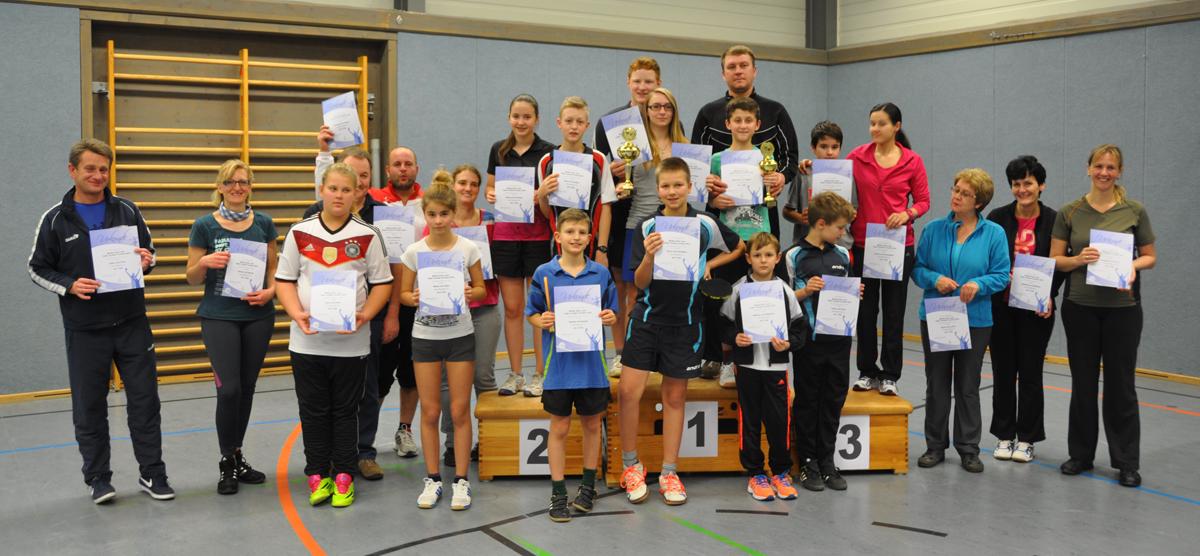 Siegerehrung Mutter-Sohn-/Vater-Tochter-Turnier 2014
