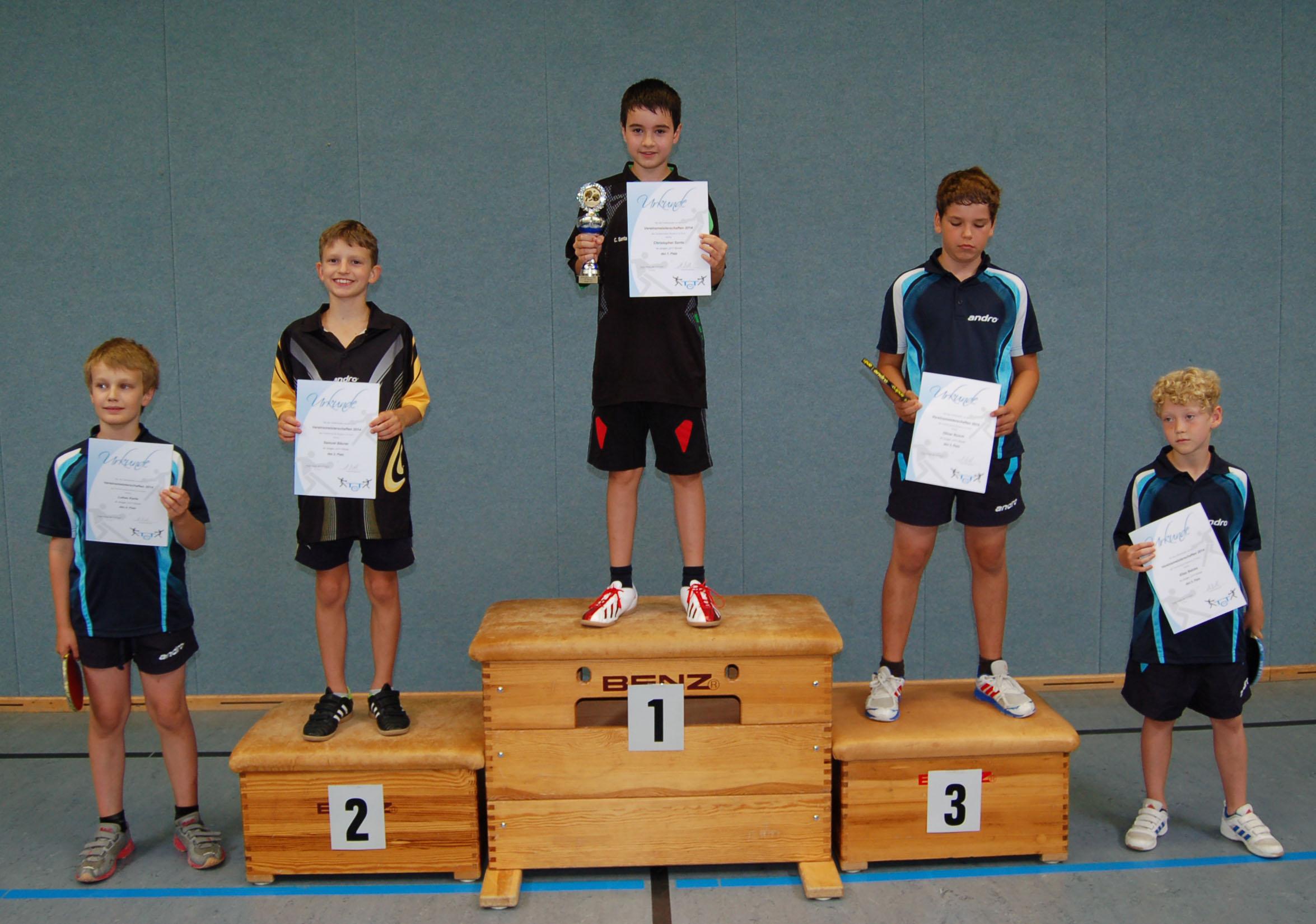 Vereinsmeisterschaft 2014 Jungen U11
