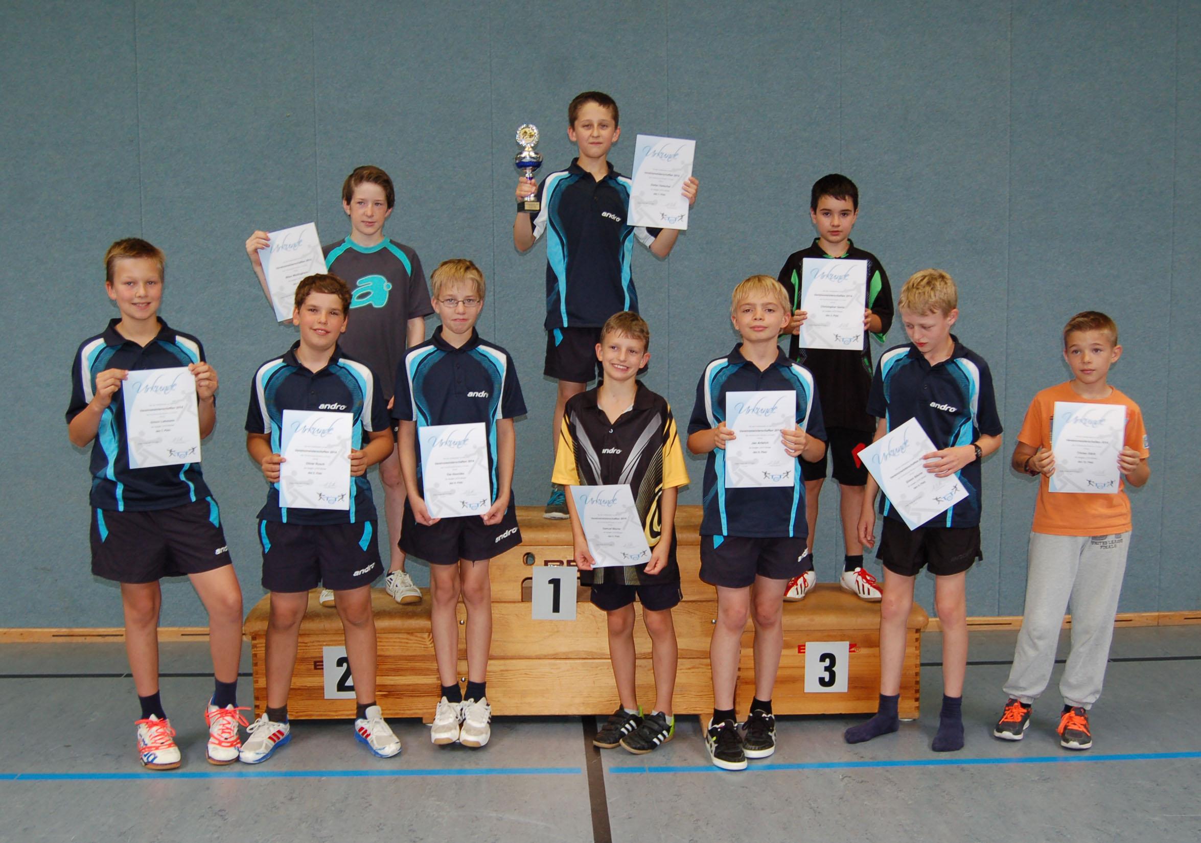 Vereinsmeisterschaft 2014 Jungen U13