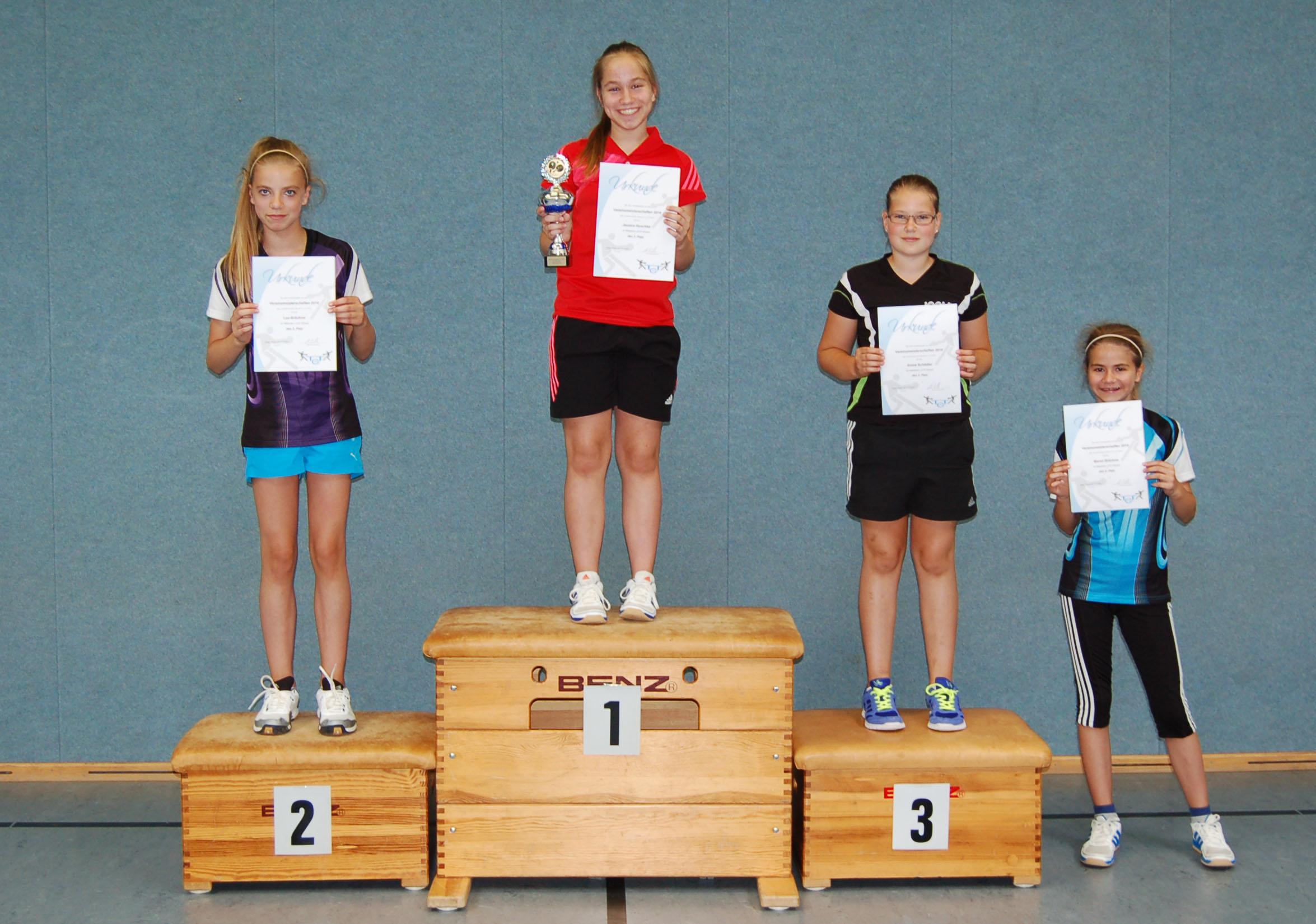 Vereinsmeisterschaft 2014 Mädchen U13