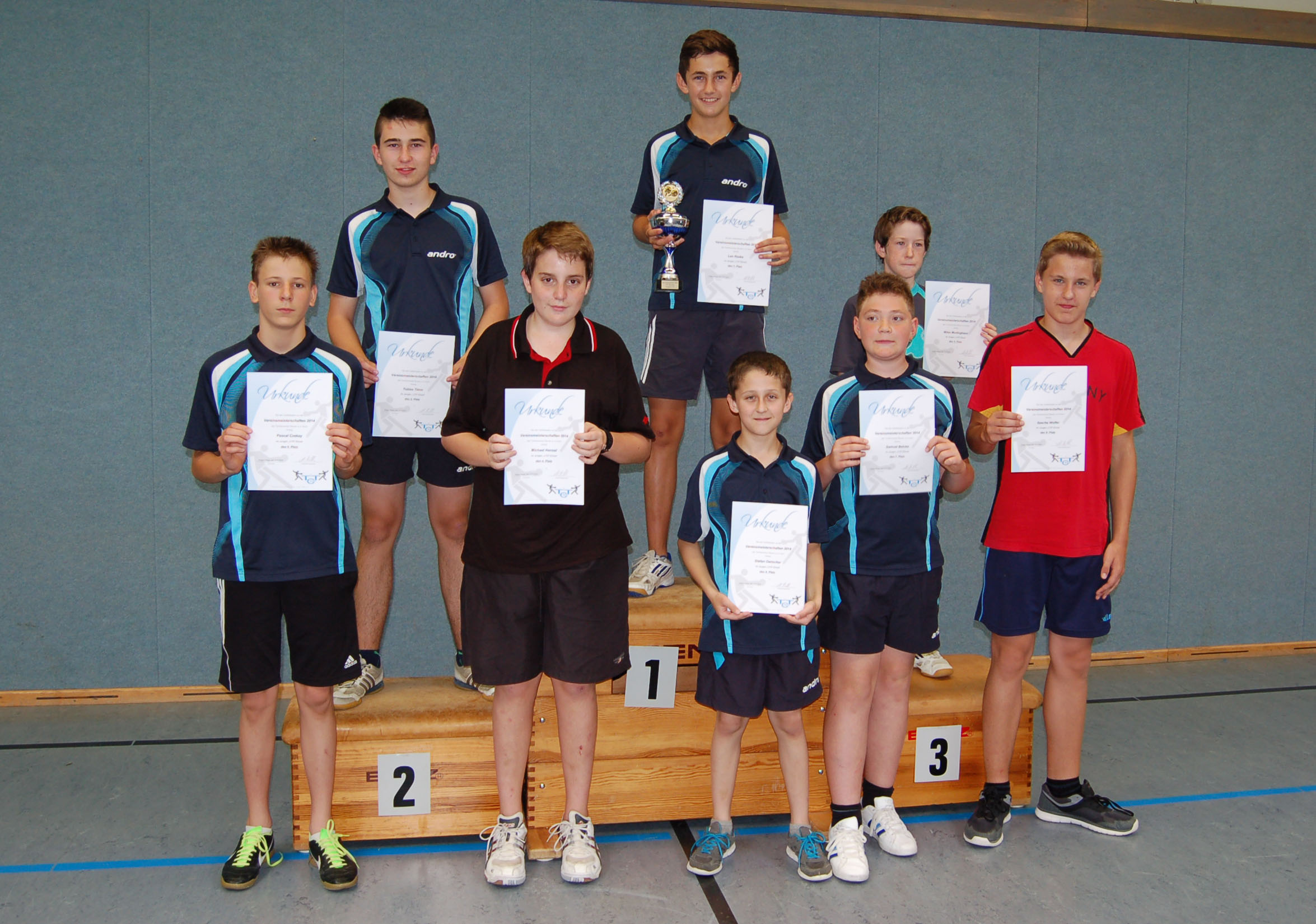 Vereinsmeisterschaft 2014 Jungen U15