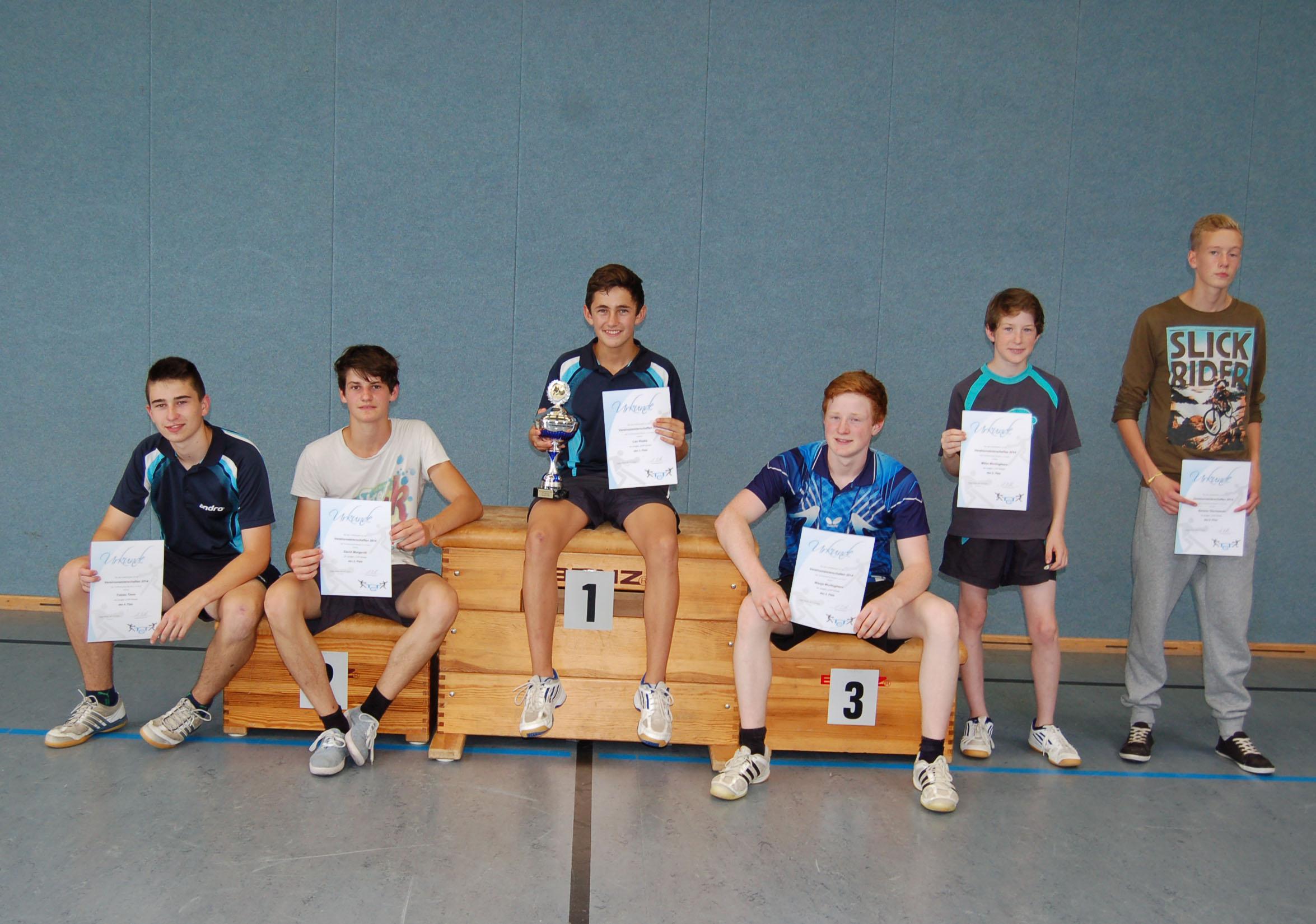 Vereinsmeisterschaft 2014 Jungen U18