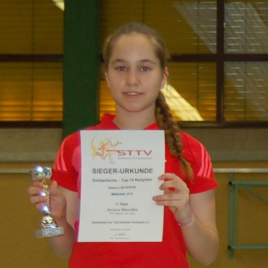 STTV TOP 16 der Mädchen U14: Platz 3 für Jessica Huschka
