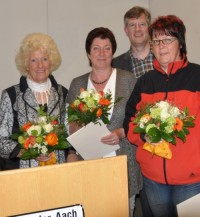 Ursula Olma, Irene Roth, Harry Olma und Hadwig Frick